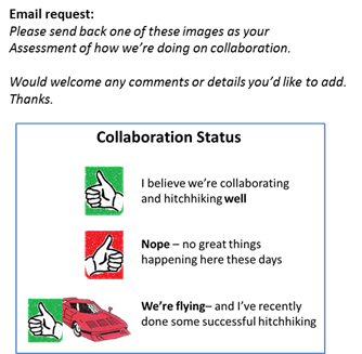 Collaboration status email