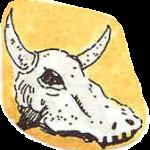 84 cow skull